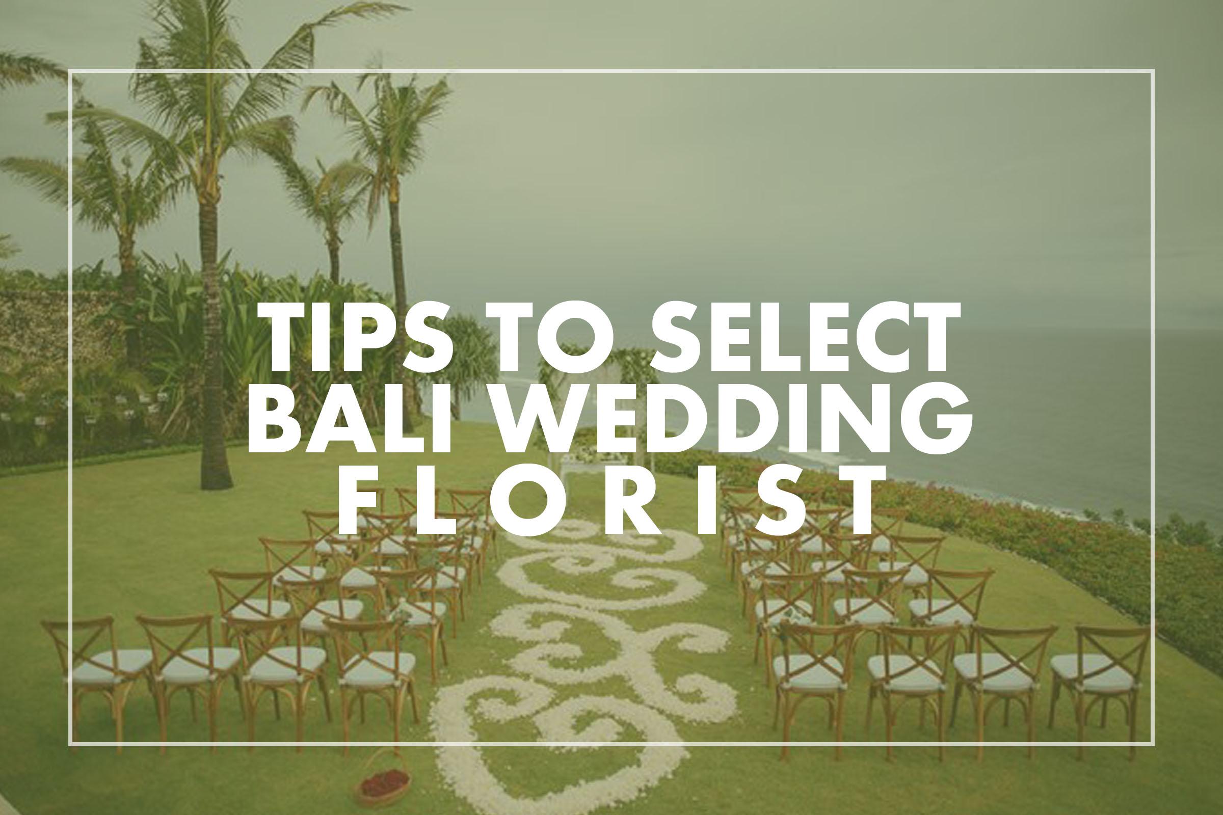 Bali Wedding Florist